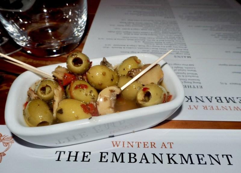 Winter at The Embankment Pub Bedford Olives Sharer dish