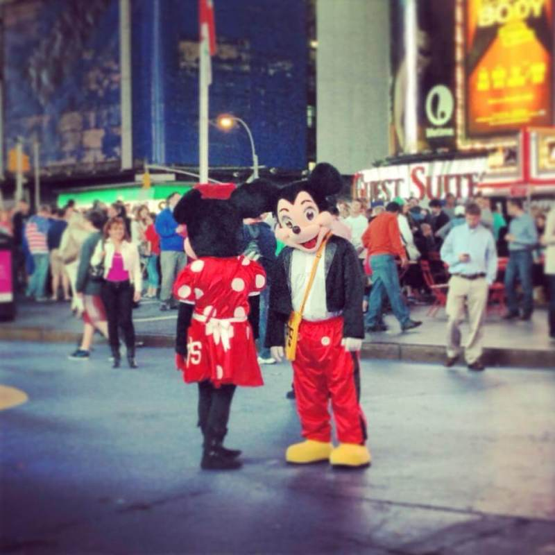 Times Square Disney Characters