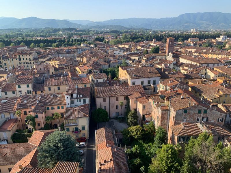 Admire the orange roofs city views of Lucca - Italy Bucket List
