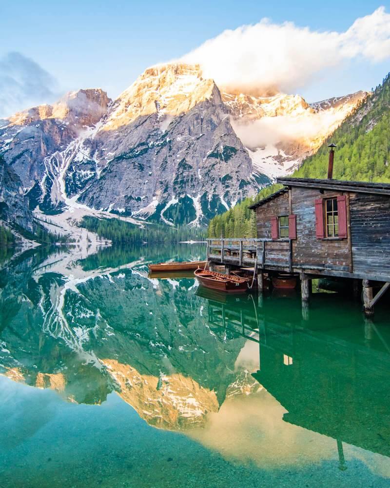 Enjoy a romantic Lago di Braies hike - Italy bucket list destination