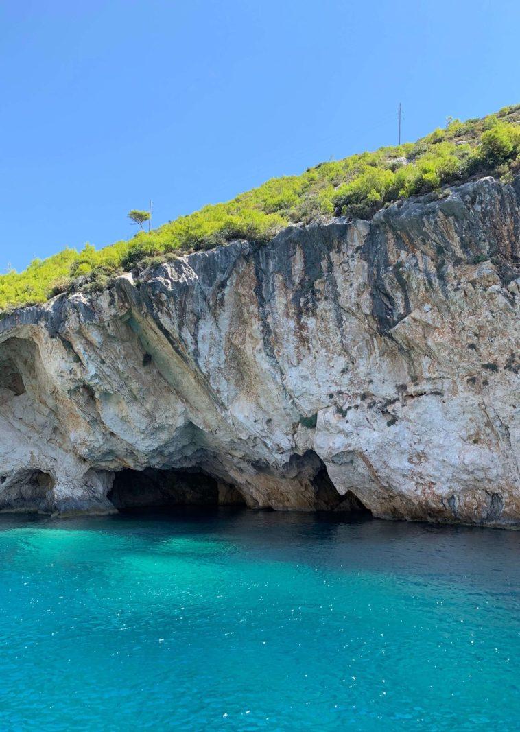 Poseidon's Face Rock Formation Zakynthos Greece.