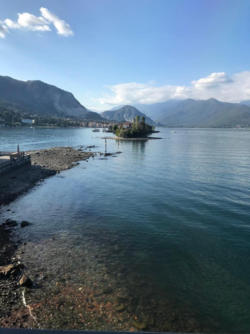 Beautiful lake view of Lake Maggiore - Italian bucket list destination