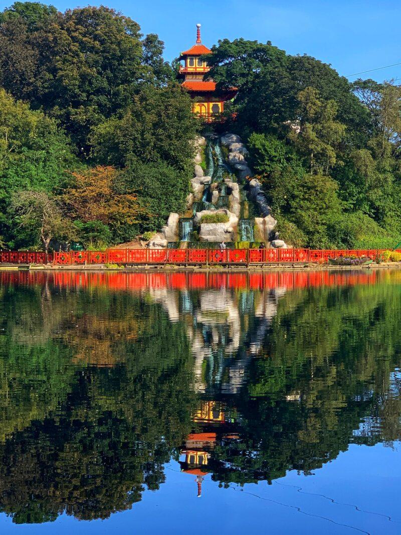 Japanese themed Peasholm Park Scarborough North Bay