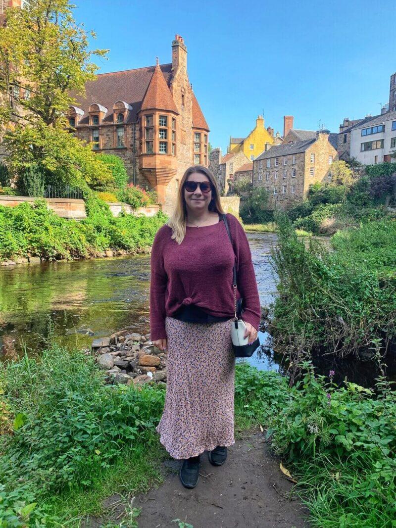 Me in Dean Village Edinburgh
