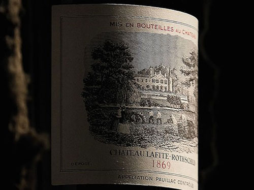 Chateau Lafite Rothschild 1869 wine