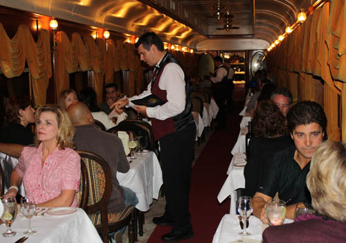 Napa Valley Wine Train - Gourmet dinner
