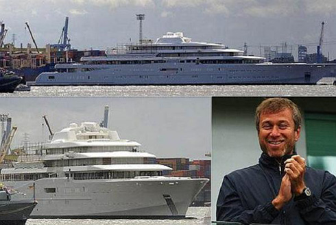 Launch of Roman Abramovich's Mega-Yacht Eclipse