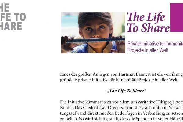 The Life To Share in der Festschrift 25 Jahre ALLERGIKA Pharma