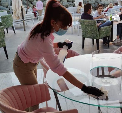 covid-19 and challenges for restaurants Cleaning