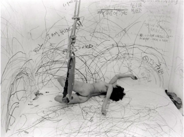 Carolee Schneemann, Up to and Including Her Limits, 1976.