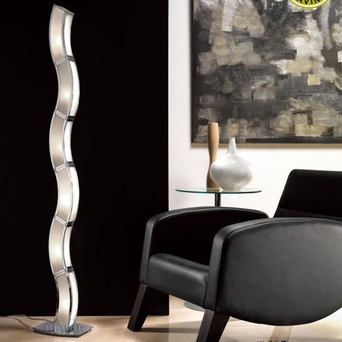 Duna Modern Floor Lamp Polished Chrome M0392  The