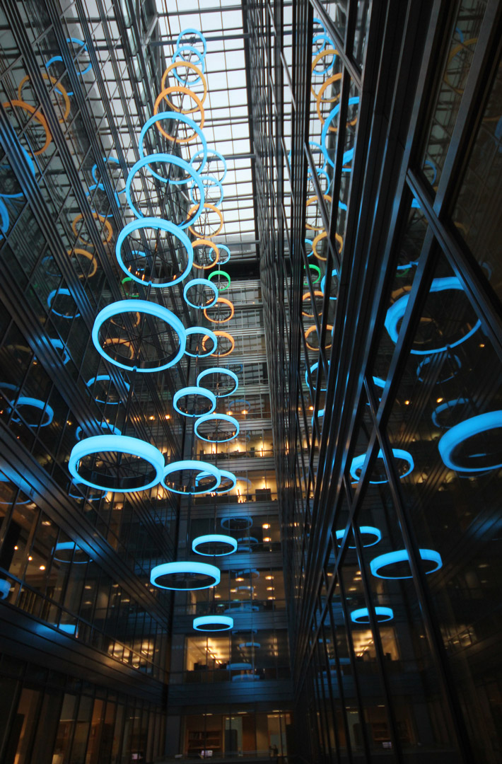 Bespoke Atrium Light Feature  Commercial Lighting