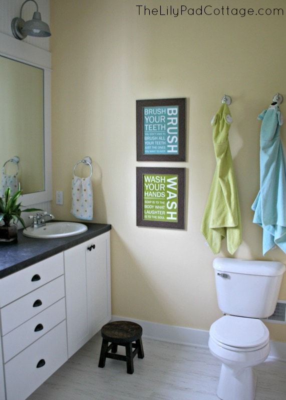 kids bathroom reveal and fun giveaway - the lilypad cottage