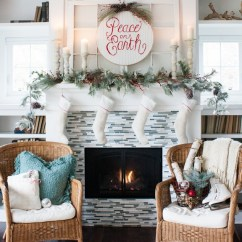 How To Decorate My Small Living Room For Christmas Kitchen Dining Layouts Tour 2013 - Classic Red And White The Lilypad ...