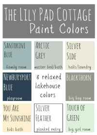 My Paint Colors - 8 Relaxed Lake House Colors - The ...