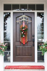 Vintage Sled Front Door Decor - The Lilypad Cottage