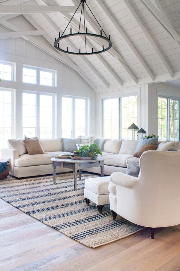 Lake House Living Room Decor  The Lilypad Cottage