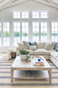 Lake House Blue and White Living Room Decor - The Lilypad ...