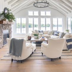 Lake House Living Room Photos Nautical Themed Blue And White Decor The Lilypad Cottage