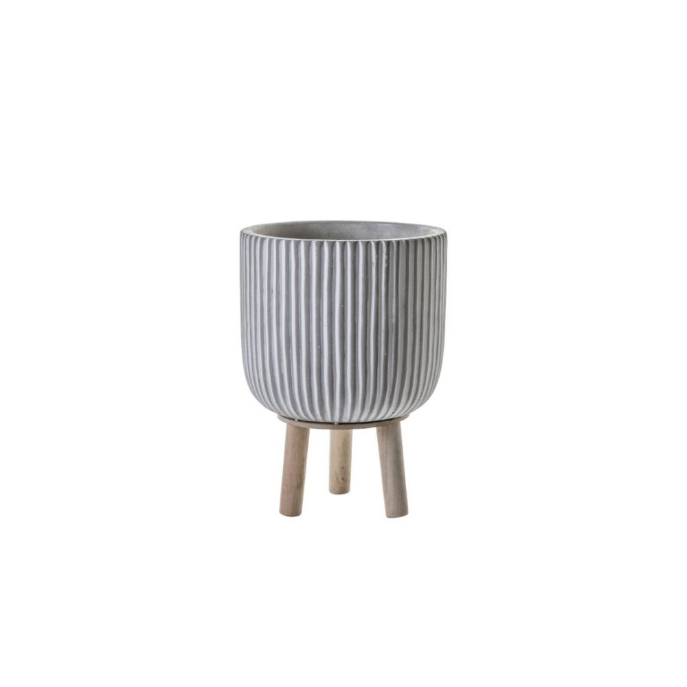 white indoor planter