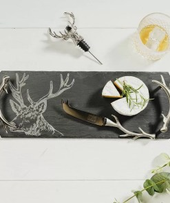 stag slate cheese knife
