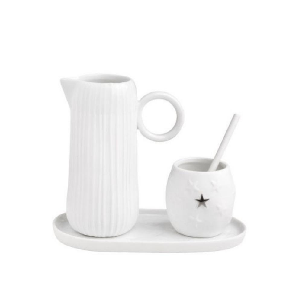 milk and sugar tea set