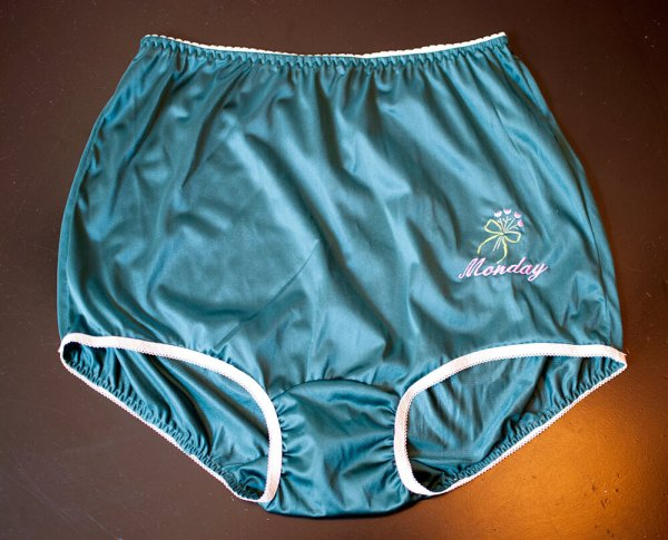 Lingerie Vintage Style Days Of Week Underwear Sassygrannysknickers