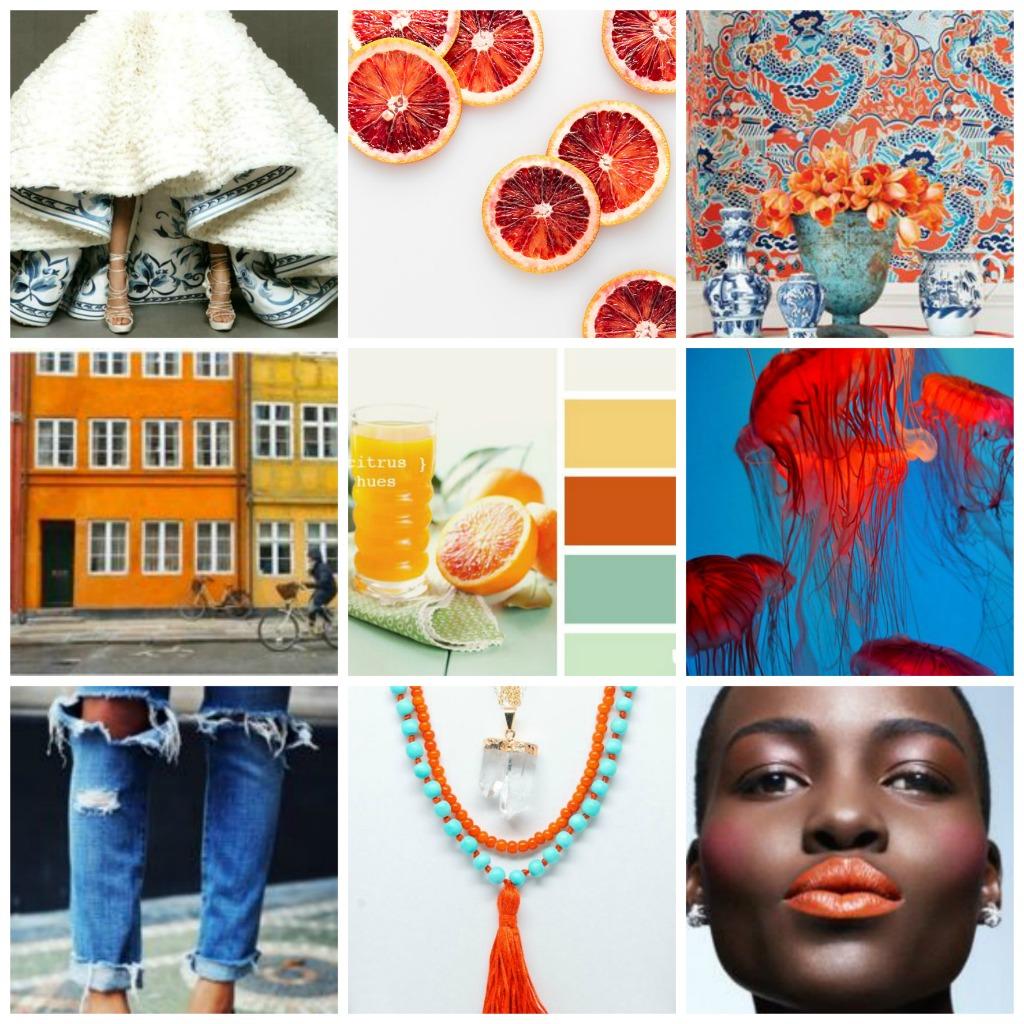Color Inspiration: Orange + Blue
