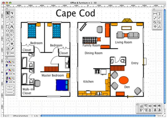 Macdraft Personal Edition Mac OS X Home Design Software!