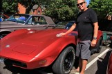 Steve Jones from Enfield gives his mighty 1978 5.7 V8 Corvette Stingray, which was imported from Canada two years ago, a final polish up before the judging.