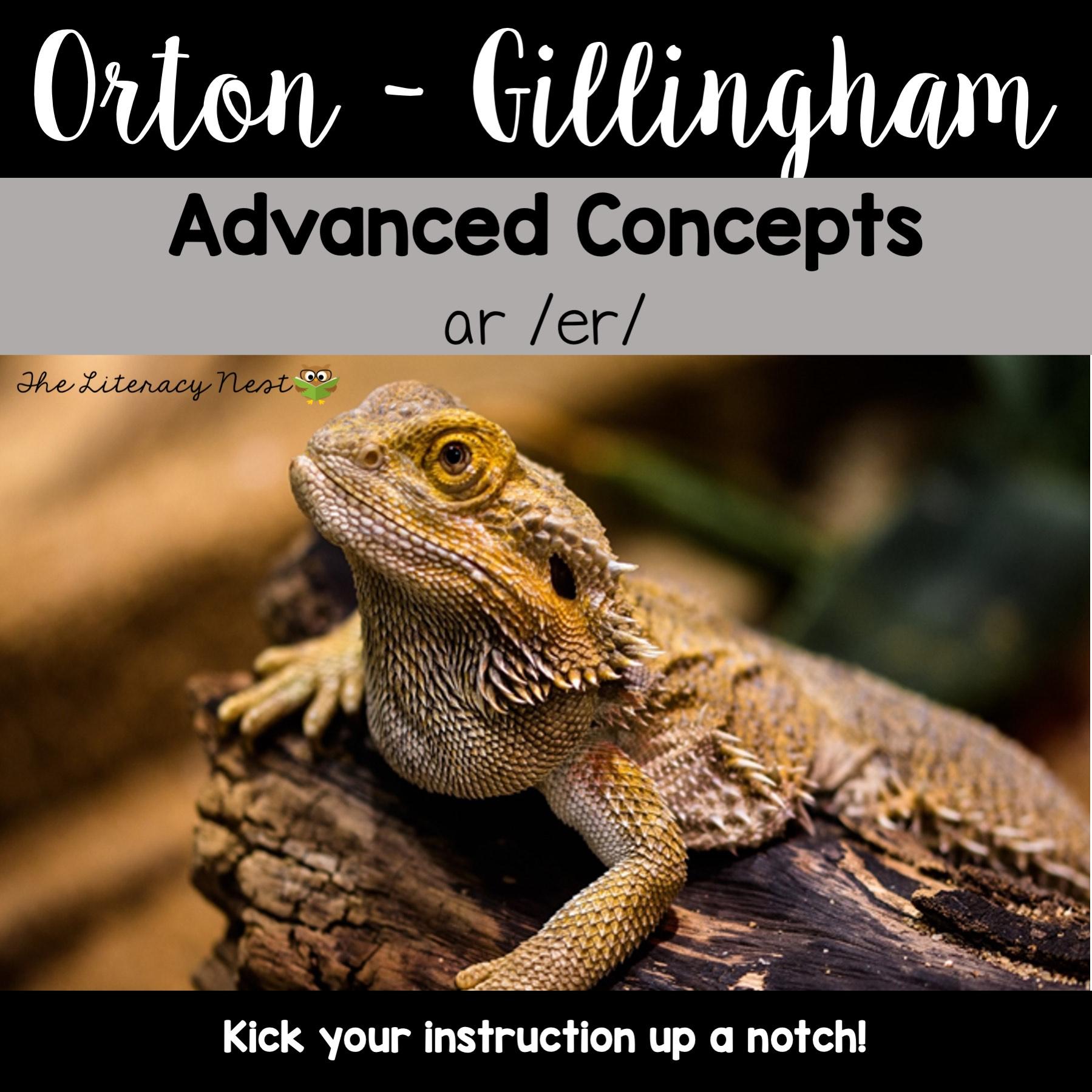 Advanced Orton Gillingham Activities For Ar Er