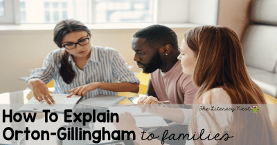 explaining orton-gillingham approach to families