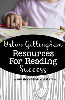 Orton-gillingham materials