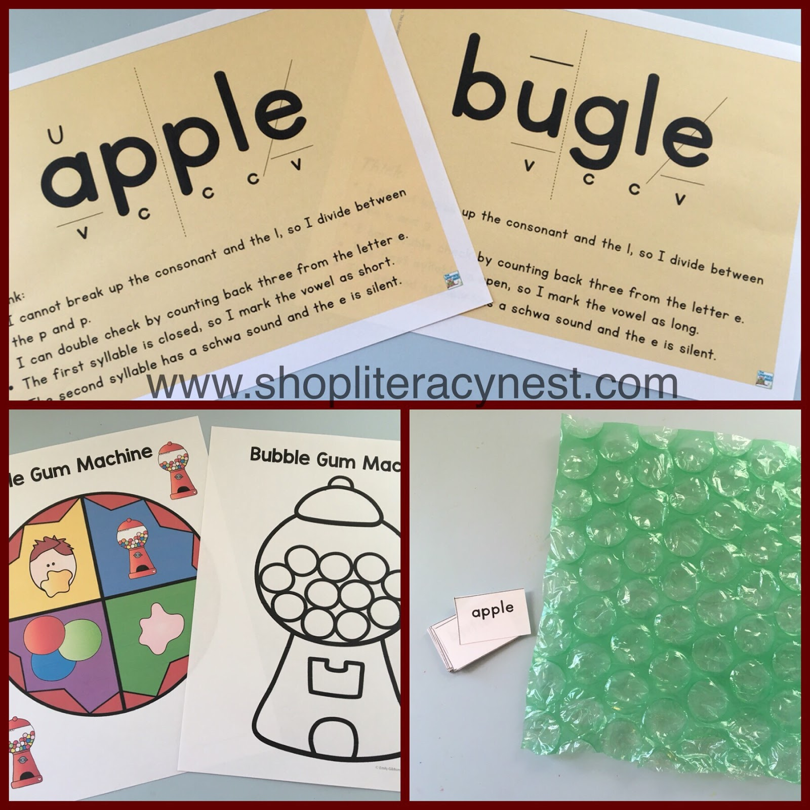 hight resolution of Syllable Series Part Six: Consonant + le Syllables - The Literacy Nest