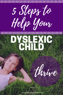 Tips for parents with dyslexic children
