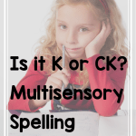 The K Or Ck Rule In Spelling The Literacy Nest