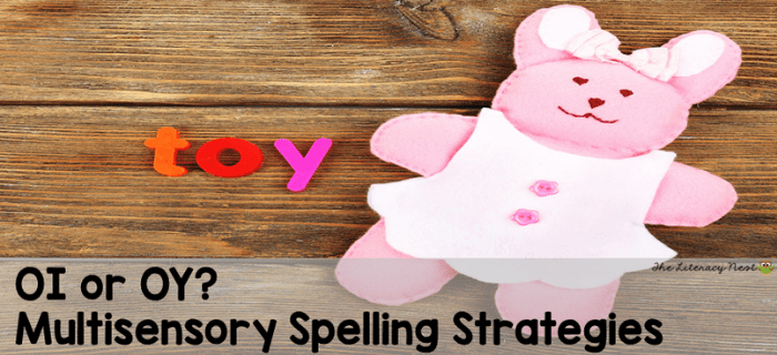 OI OY spelling strategies