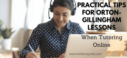 Online Tutoring with Orton-Gillingham lessons