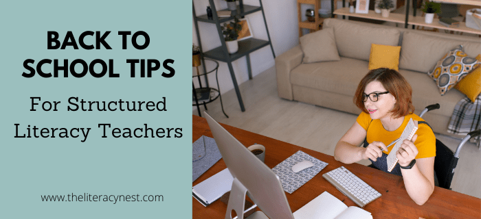 Back to School Tips for Structured Literacy Teachers