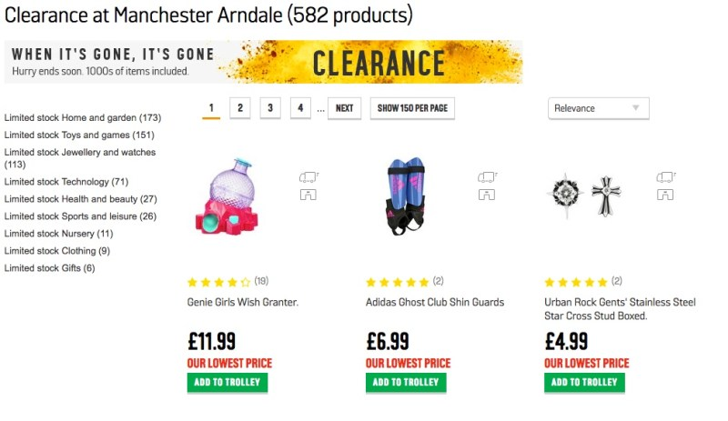 Search Argos Clearance
