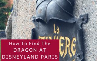 Dragon Under The Castle At Disneyland Paris