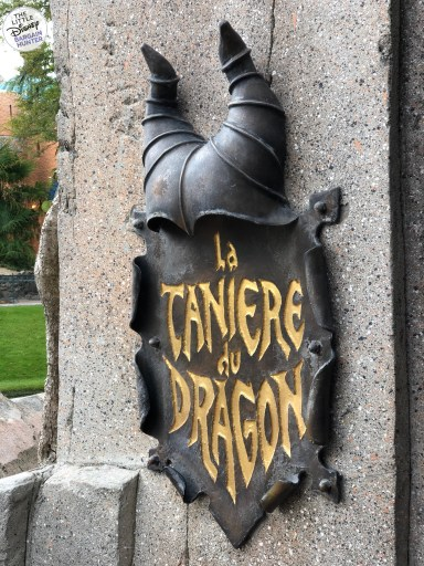 Dragon Under The Castle At Disneyland Paris