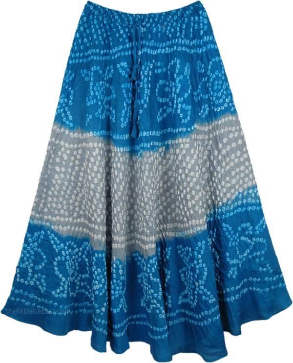 Bahamas Tie Dye PullOn Skirt Misses Vacation Beach