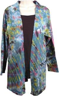 Tie Dye Cotton Summer Jacket | Tunic-Shirt | Jackets
