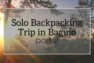 solo backpacking baguio