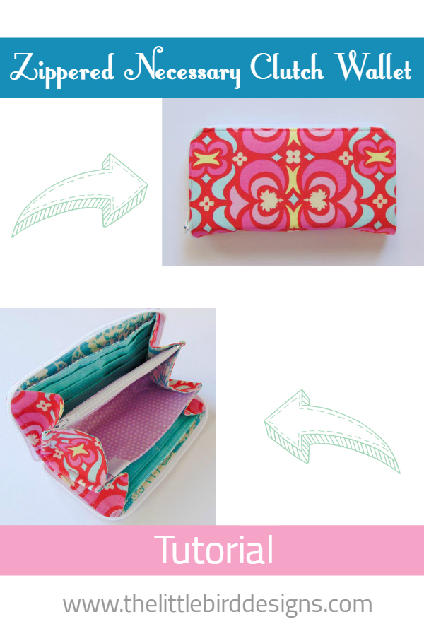 Zippered Necessary Clutch Wallet Tutorial: Part 1