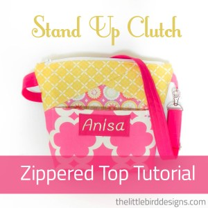 Zipper Topped Stand Up Clutch Tutorial!