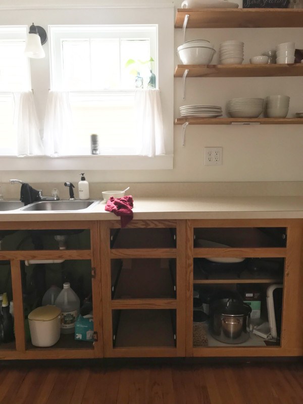 Our Painted Kitchen Cabinets - The Little by Little Home