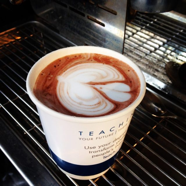 Hot Chocolate With Barista Latte Art