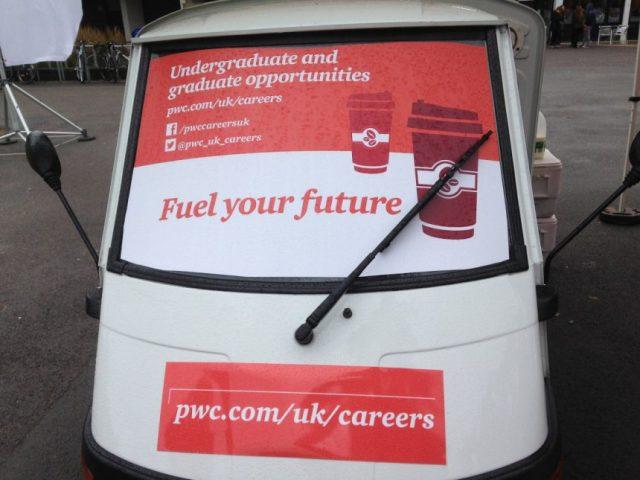 Branded mobile coffee van